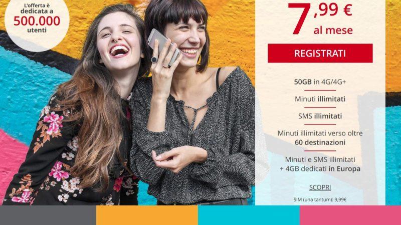 Iliad supera i 2 milioni di clienti e lancia una nuova offerta: 50GB in 4G+, Minuti ed SMS Illimitati a 7,99€