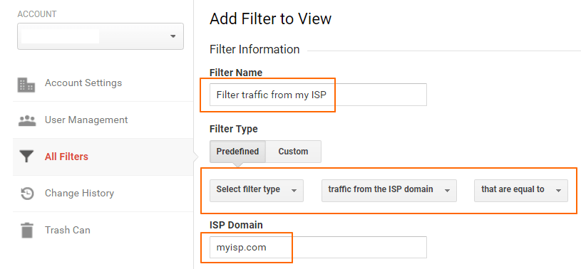 Image 5.2 Filtering Out ISP Domain