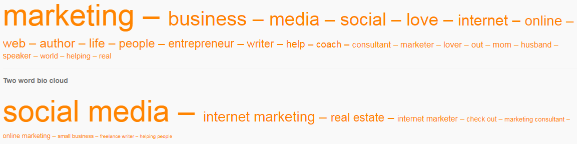 Image 8.G - Most Used Words by Followers