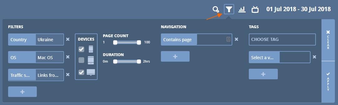 Image 1c.9. Data Filter Options