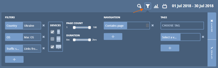 Image 1c.9. Data Filter Options