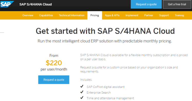 Image 1g.1. SAP Hana Cloud Pricing