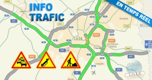 Bouchons, accidents, travaux en direct à Lille sur Zoom Sur Lille