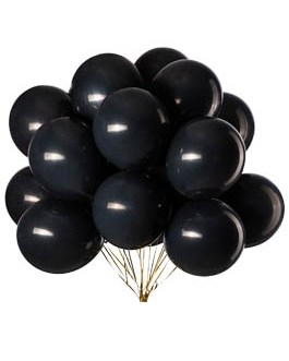 12 inch Black Balloons Latex Balloons Helium Balloons Quality Balloons Party Decorations Supplies Pack of 100,3.2g/pcs