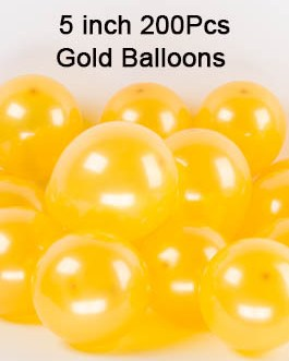 5 Inch Gold Balloons Gold Small Helium Balloons Mini Gold Latex Balloons Party Decorations Supplies,Pack of 200