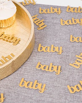 Glitter Gold Baby Confetti Paper Table Confetti for Baby Showers Pack of 100