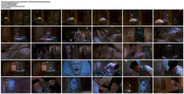 Aimee Leigh nude but covered in Hellraiser III (1992) HD 1080p BluRay (1)