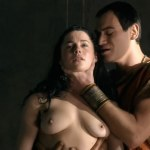 Lucy Lawless, Jaime Murray and Jessica Grace Smith all naked and sex threesome – Spartacus Gods of the Arenas1e3 HD720p