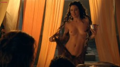 Lucy Lawless, Jaime Murray naked and sex threesome - Spartacus GotA e03 HD720p