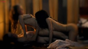 Lucy Lawless and Jaime Murray naked and sex threesome - Spartacus Gods of the Arena e02 HD720p