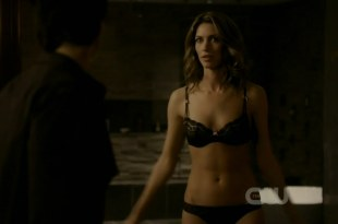 Dawn Olivieri hot and sexy in black lingerie - The Vampire Diaries S2E19 hdtv720p