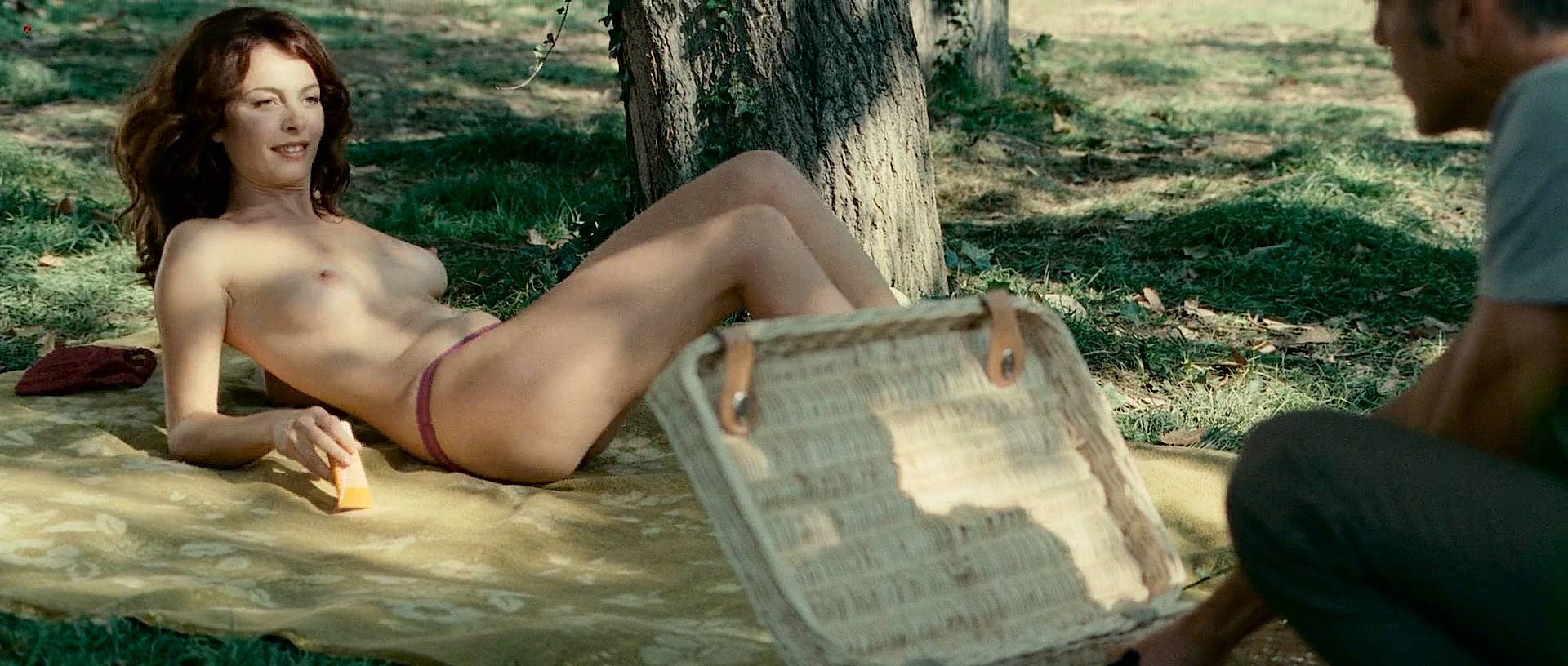 Violante Placido nude topless and sex and Irina Björklund nude butt - The American hd1080p (9)