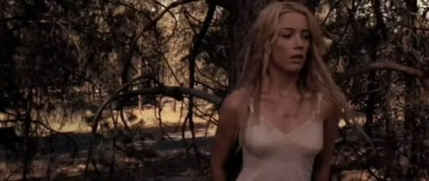 Amber Heard not nude but hot in lingerie from The Ward (2010)