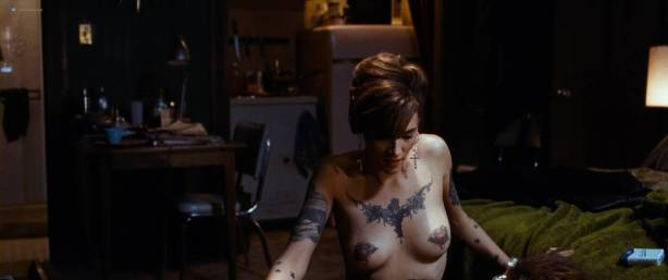 Megan Fox naked but covered and Alexandra Ruddy naked topless - Passion Play (2010) HD 1080p (5)