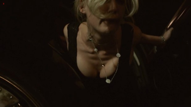 Rosamund Pike hot sex in the car doggy style and Emily Meade nude brief topless- Burning Palms (2010) hd720p (3)