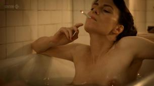 Claire Foy nude topless and lesbian kiss with Anna Wilson-Jones in - The Night Watch (2011) hd720p