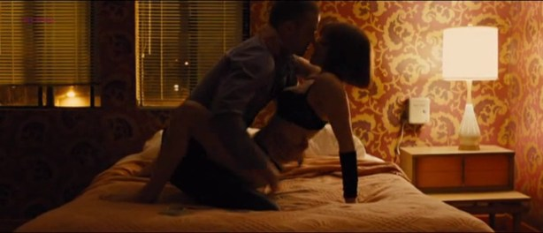 Amanda Seyfried not nude but sexy and hot sex in lingerie - In Time (2011)