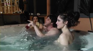 Theresa Novicky nude topless and Stacey Poupolo nude topless in the bath - Heavy Times (2011)