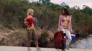 Michelle Rodriguez, Taryn Manning and Lisa-Marie Schneider all hot and sexy - The Breed (2006) HD1080p (3)