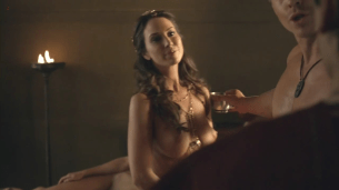 """Ayse Tezel nude lesbian from """"Spartacus"""" s3e6 hd720p"""