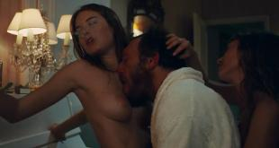 Camille Rowe and Josephine de La Baume nude topless sex threesome - Notre jour viendra (2010) hd720p