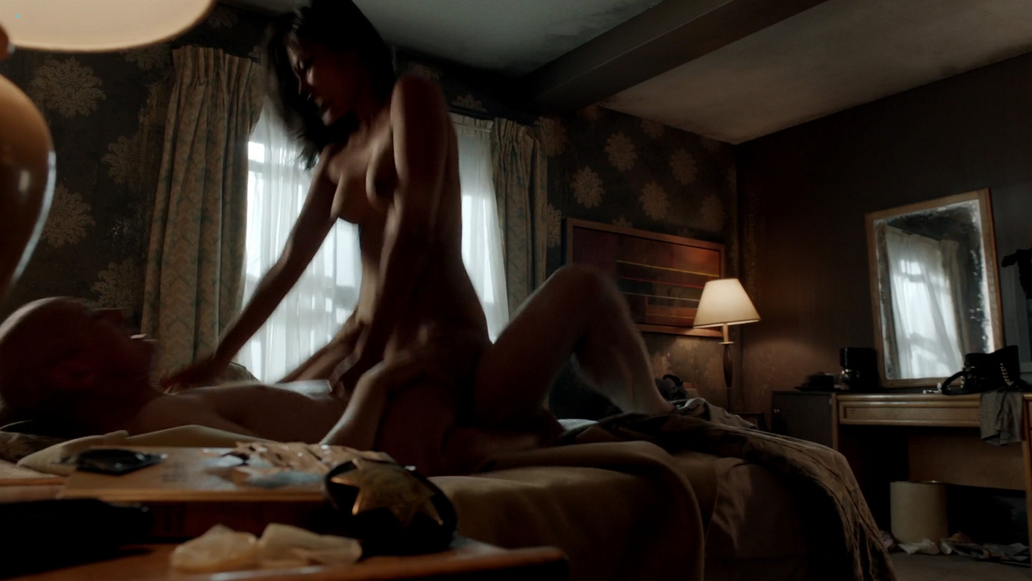 Kira Clavell nude full frontal Leah Gibson nude sex - Rogue (2013) s1e3 HD 1080p (8)