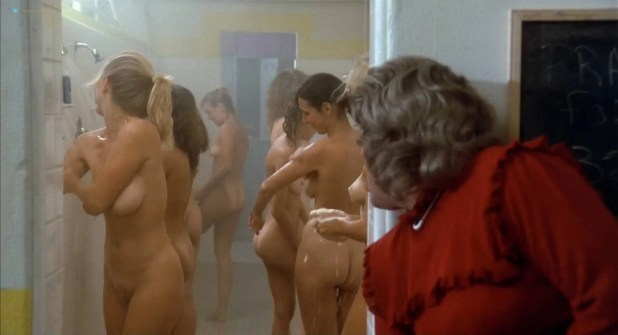 Phoebe Cates nude butt and Betsy Russell all naked - Private School (1983) HD 1080p BluRay (6)