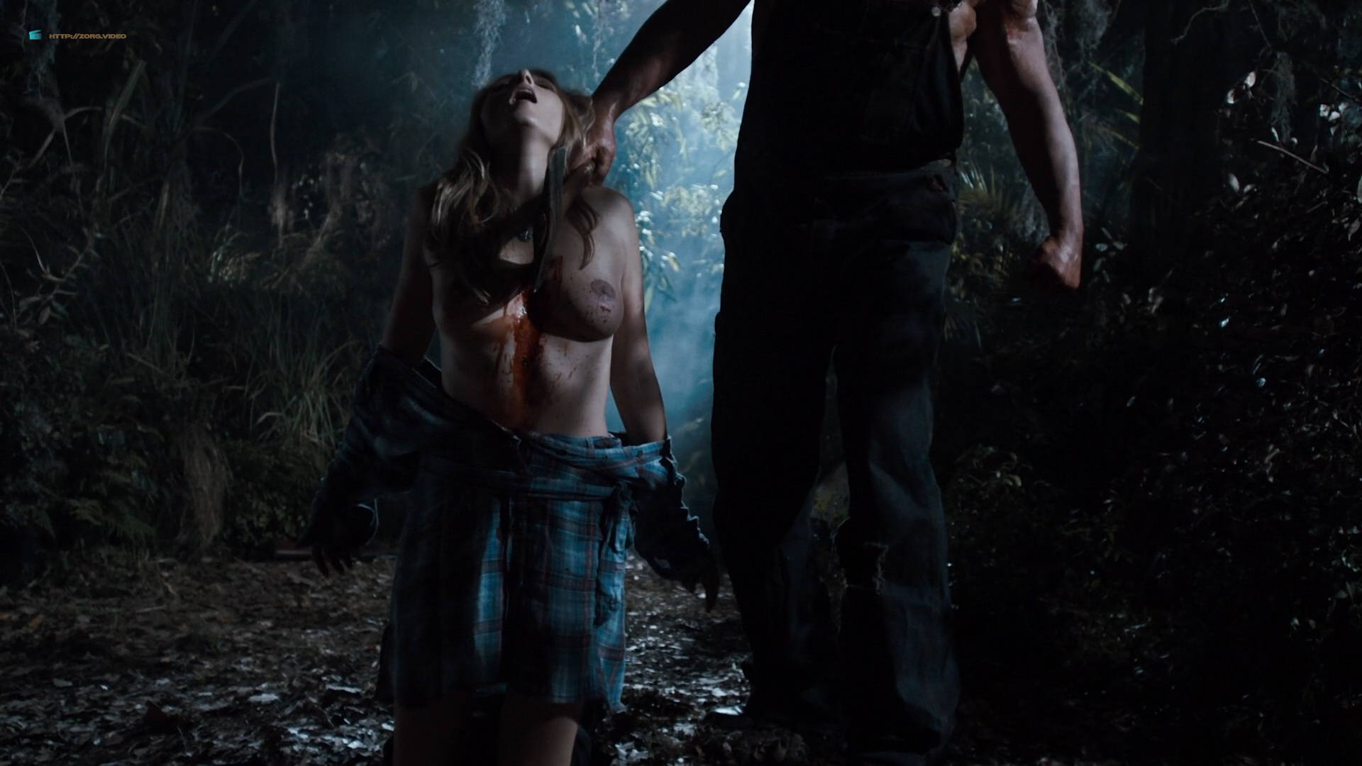 Sarah Agor, Charlayne DeVillier and Alexis Peters all naked in - Hatchet II HD1080p (8)