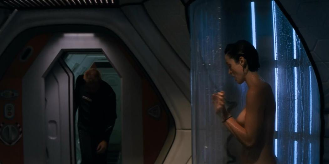 Carrie Anne Moss naked in the shower - Red Planet (2000) hd1080p