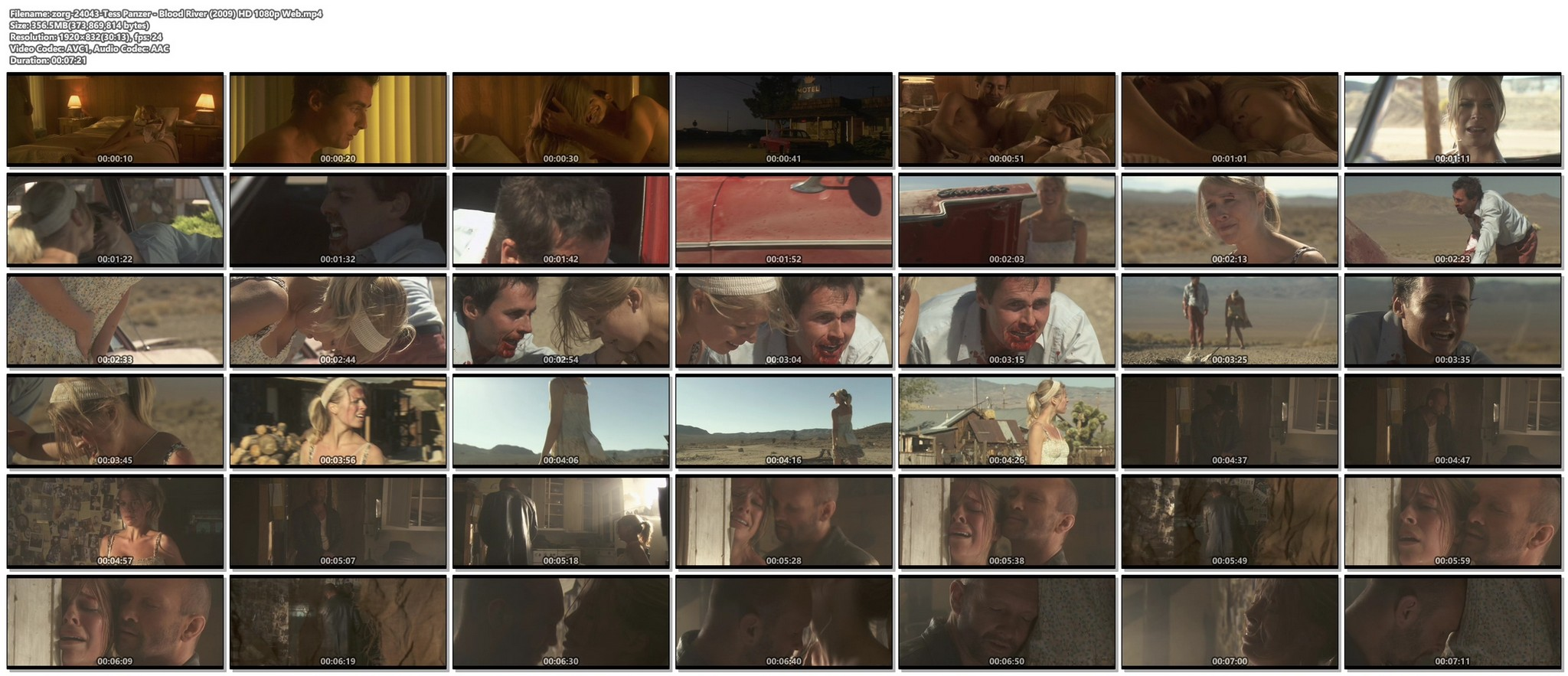 Tess Panzer hot sexy and nice cleavage - Blood River (2009) HD 1080p (1)