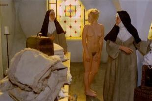Eleonora Giorgi nude full frontal bush and Paola Senatore nude topless – Story of a Cloistered Nun (1973)