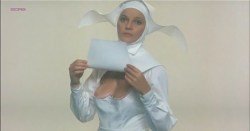 Laura Antonelli nude and hot as topless nun - Sessomatto (1973) (3)
