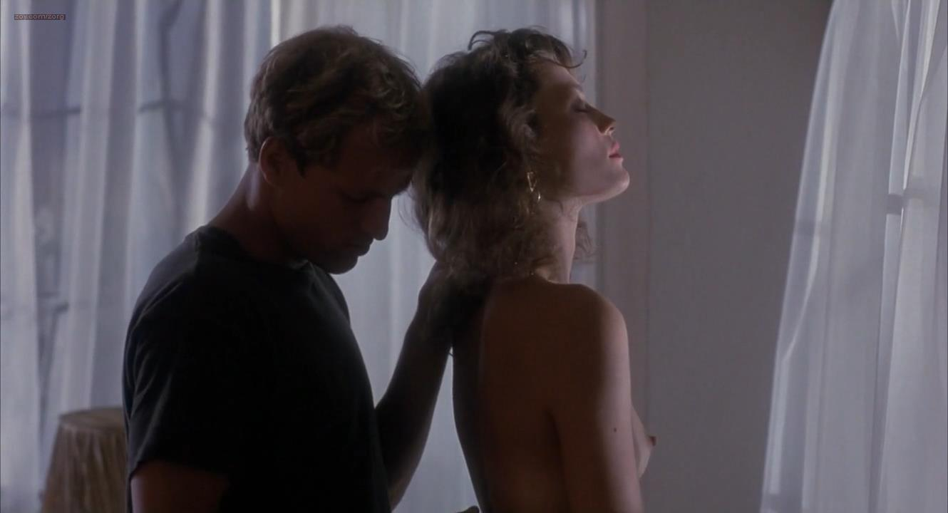 Ely Pouget nude topless and Judie Aronson nude topless some sex - Cool Blue (1990) HD 720p. (12)