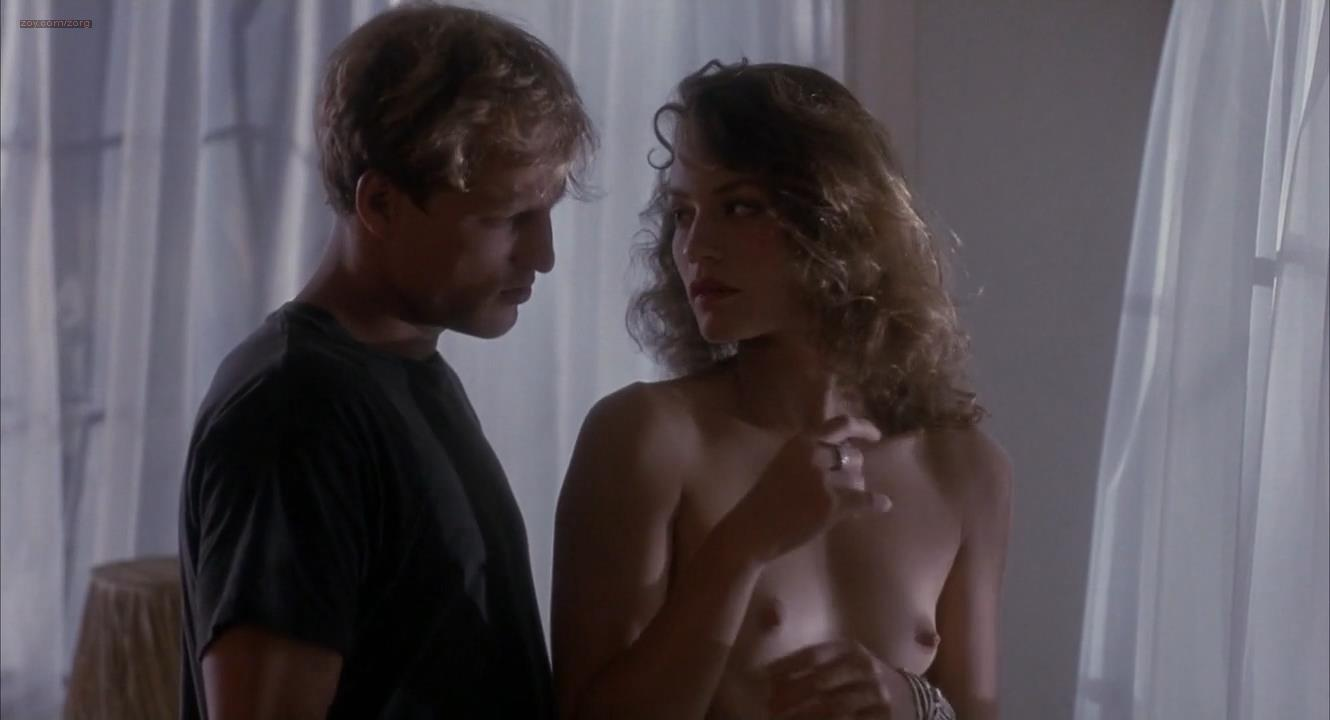 Ely Pouget nude topless and Judie Aronson nude topless some sex - Cool Blue (1990) HD 720p. (11)