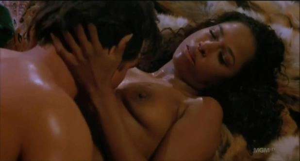 Stacey Dash nude topless sex - Illegal in Blue (1995) hdtv720p