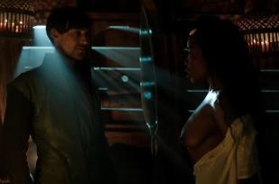 Laura Haddock nude brief topless and Estella Daniels nude topless – Da Vincis demons (2014) s2e2 hd720p