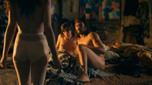Deborah Francois full nude sex threesome and Maria Kraakman nude full frontal and skinny dipping in Dutch movie - My Queen Karo (2009) (1)