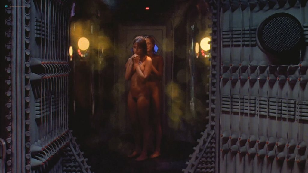 June Chadwick nude bush and topless and Dawn Dunlap nude full frontal - Forbidden World (1982) HD 1080p BluRay (2)