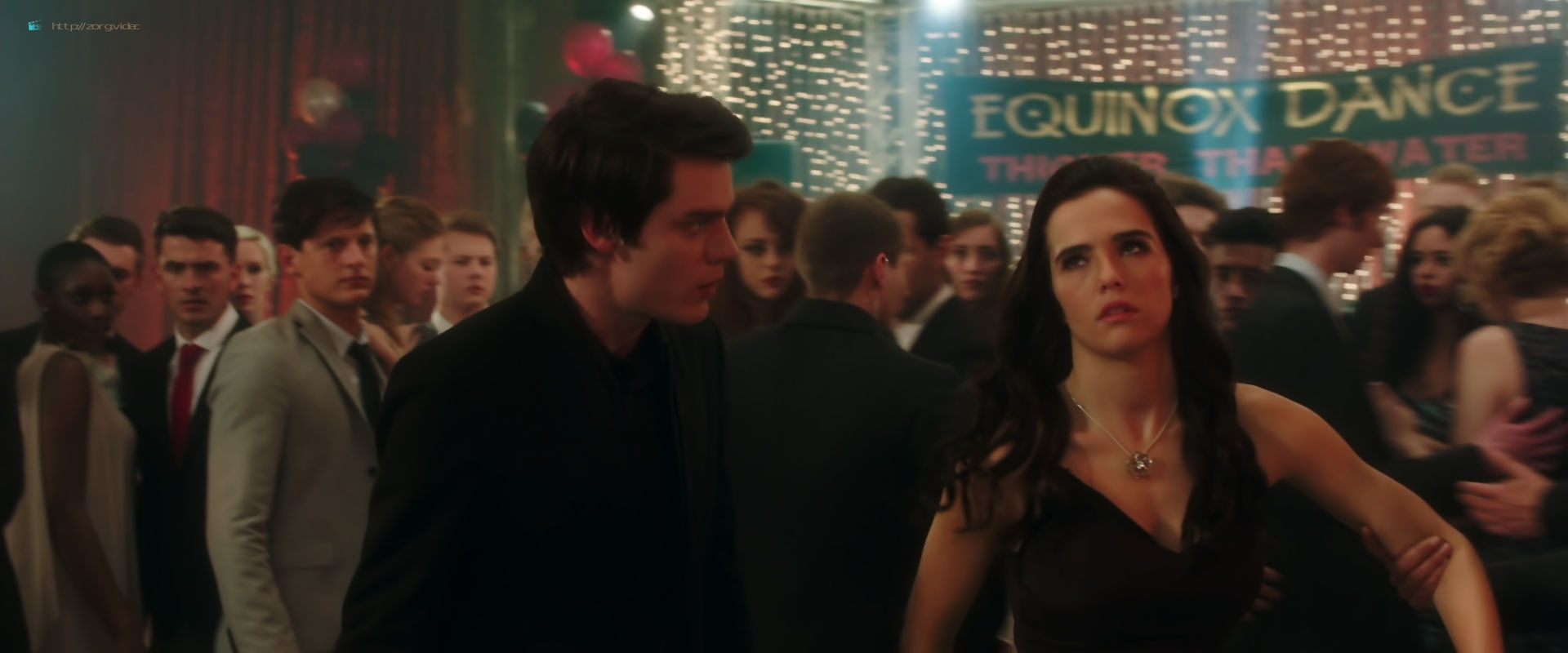Zoey Deutch hot and sexy in black lingerie and some mild sex in - Vampire Academy (2014) HD 1080p BluRay (11)