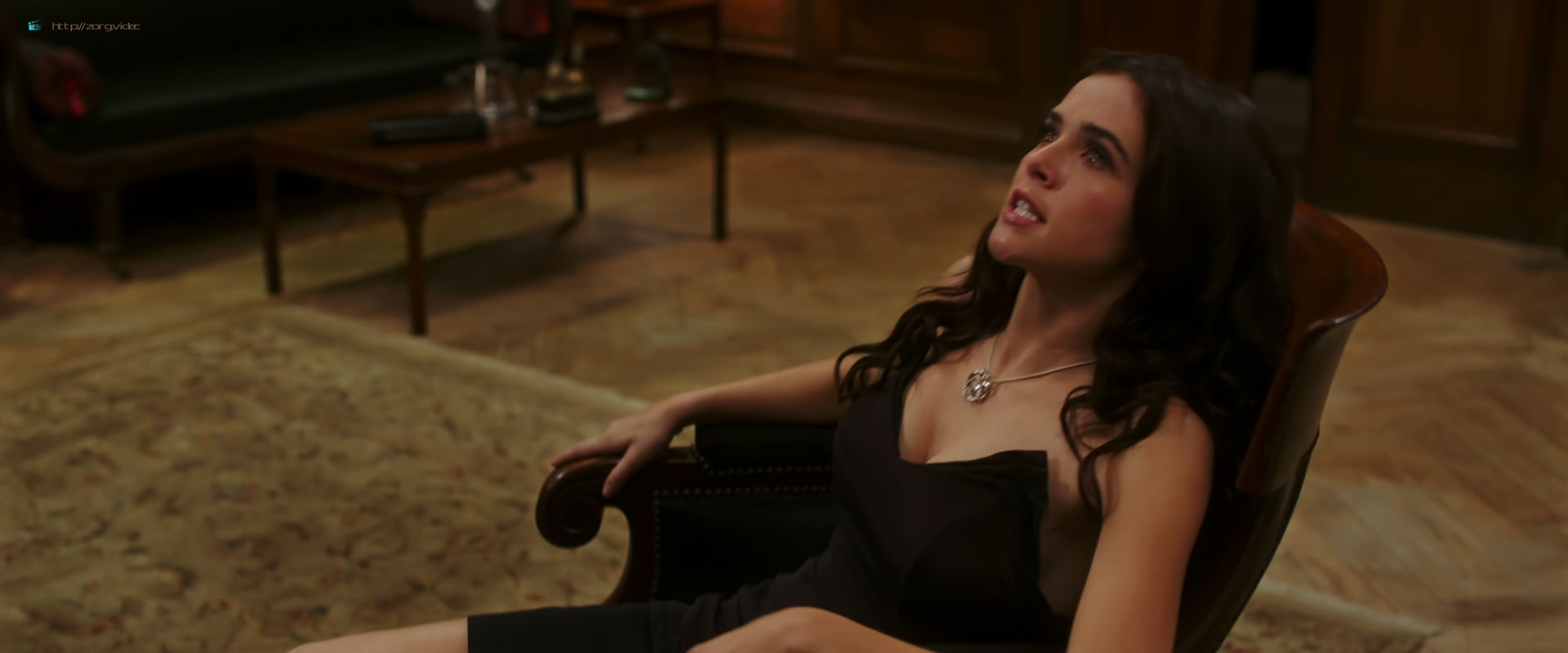 Zoey Deutch hot and sexy in black lingerie and some mild sex in - Vampire Academy (2014) HD 1080p BluRay (10)