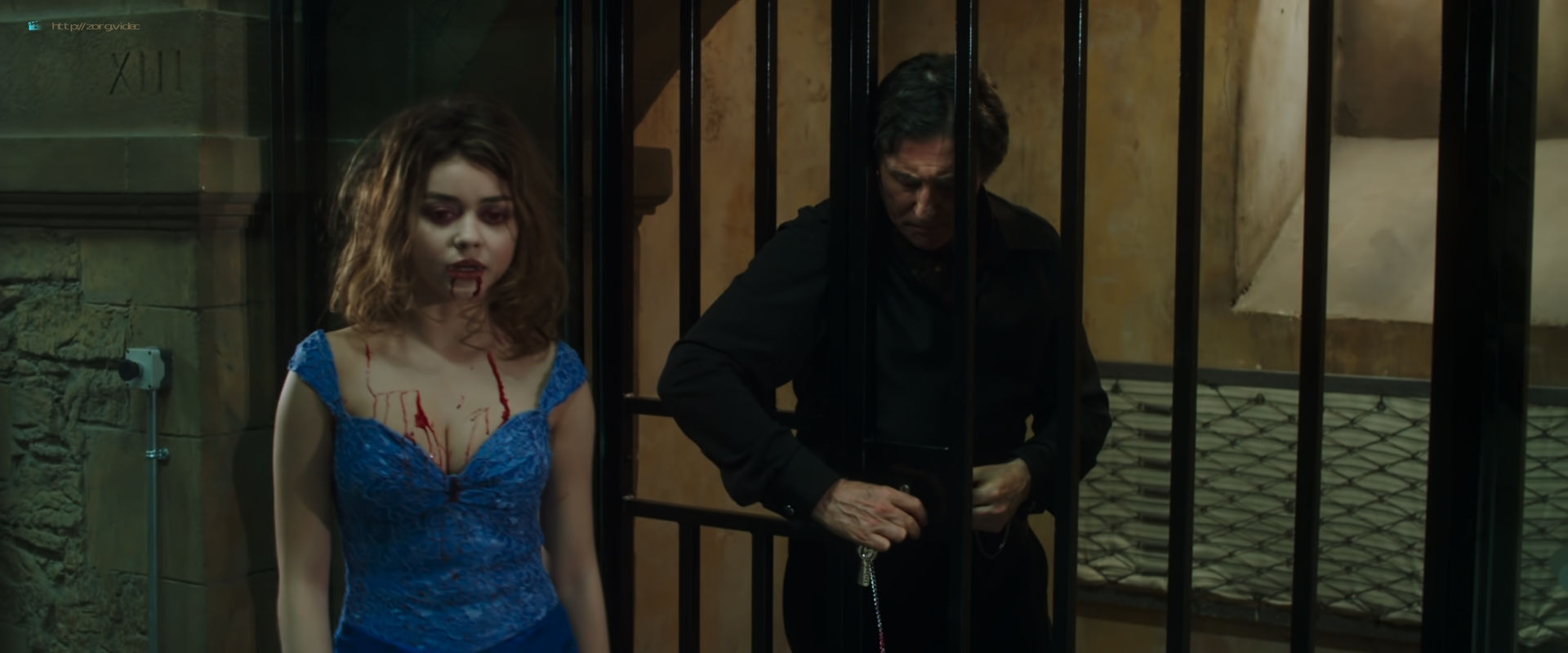 Zoey Deutch hot and sexy in black lingerie and some mild sex in - Vampire Academy (2014) HD 1080p BluRay (3)