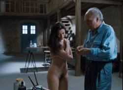 Emmanuelle Béart nude full frontal bush and nude modeling in - La belle noiseuse (FR-1991) HD 1080p BluRay (18)