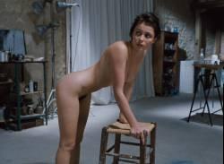 Emmanuelle Béart nude full frontal bush and nude modeling in - La belle noiseuse (FR-1991) HD 1080p BluRay (16)