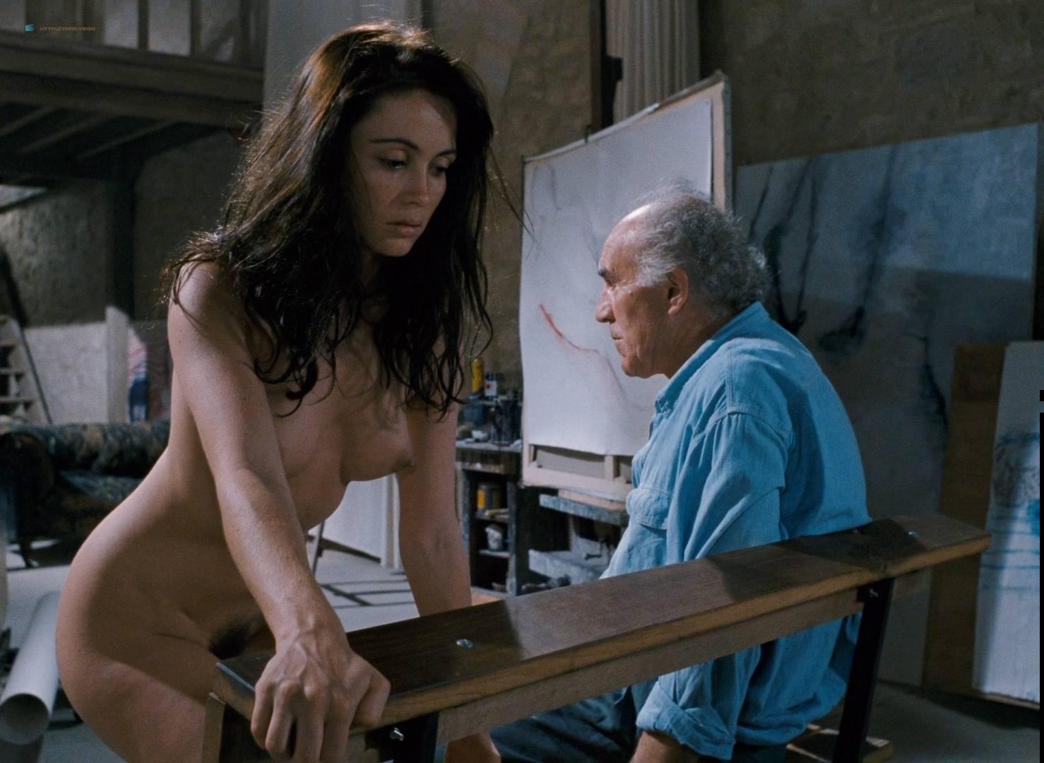 Emmanuelle Béart nude full frontal bush and nude modeling in - La belle noiseuse (FR-1991) HD 1080p BluRay (8)