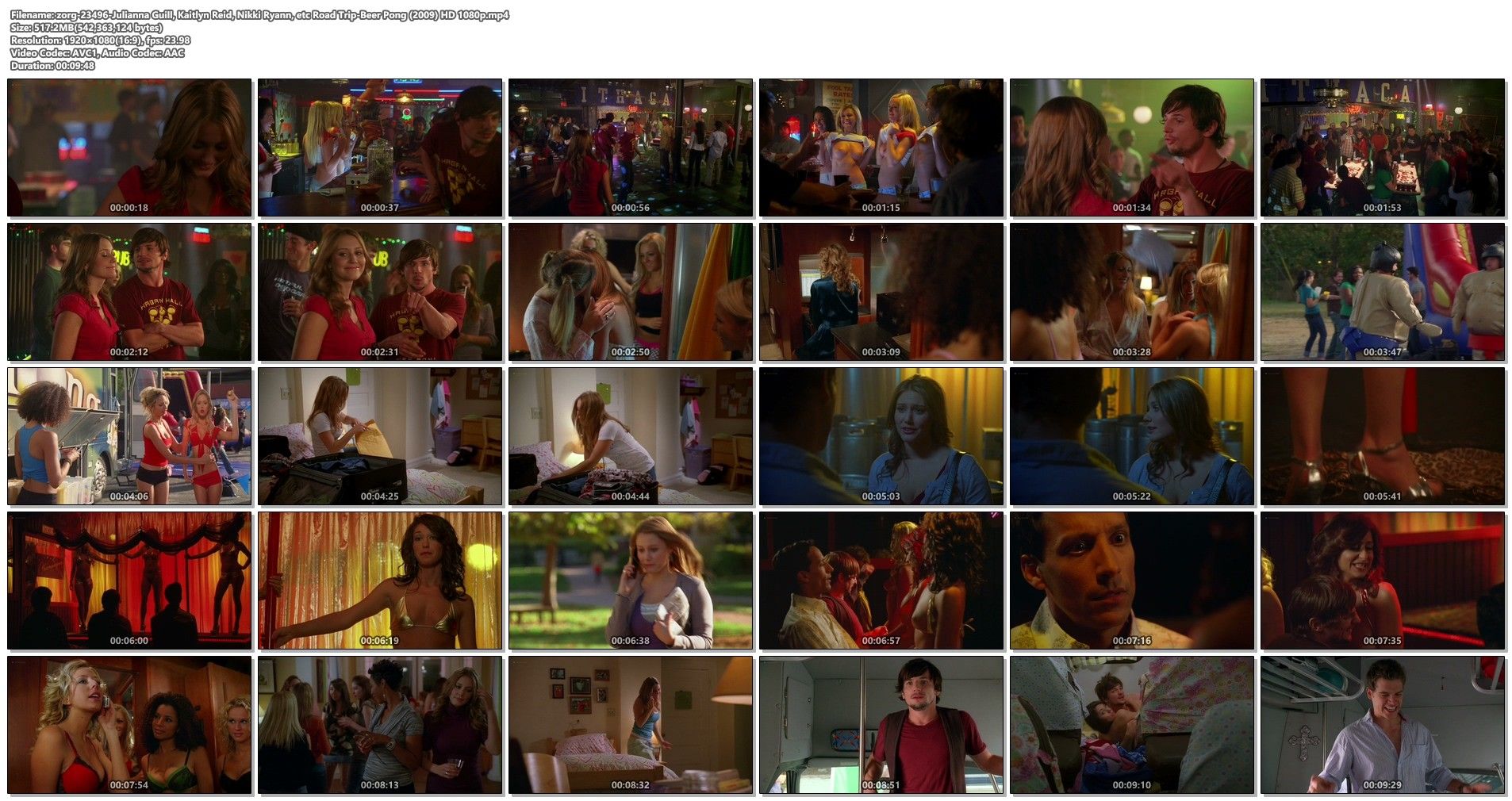 Julianna Guill Michelle Gordon and others all nude - Road Trip-Beer Pong (2009) HD 1080p Web (1)