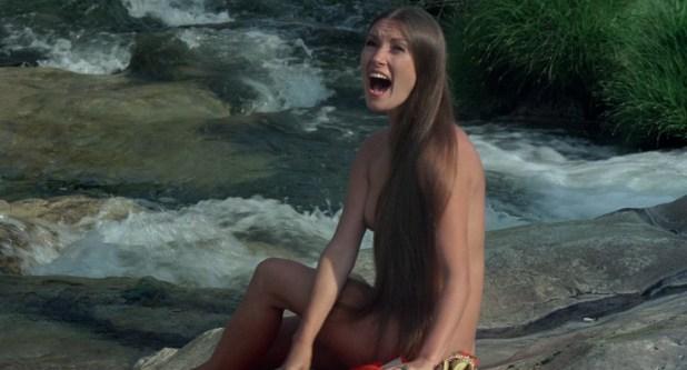 Jane Seymour nude side boob and nipple and Taryn Power nude side boob - Sinbad and the Eye of the Tiger (1977) hd1080p (1)