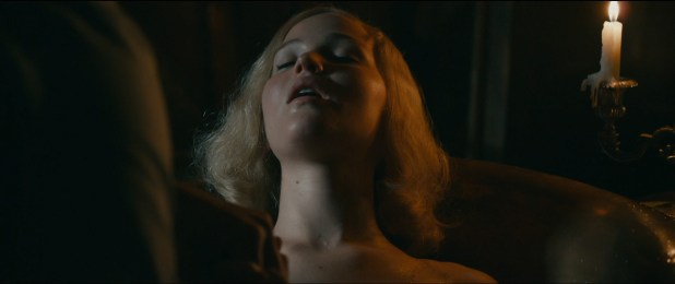 Jennifer Lawrence hot sexy some sex and great cleavage - Serena (2014) hd1080p (3)