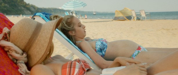 Zoe Kazan nude butt and Megan Park and MacKenzie Davis not nude but hot bikini- What If (2014) hd1080p (6)