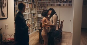 Desiree Akhavan nude topless and sex threesome - Appropriate Behavior (2014) WEB-DL hd720p (3)