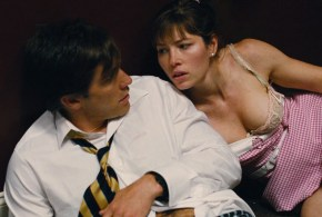 Jessica Biel hot leggy and some great cleavage – Accidental Love (2015) hd1080p